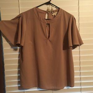 Rose keyhole monteau blouse